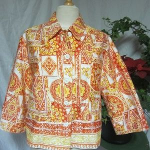 Coldwater Creek 16  Cotton Button Front Jacket